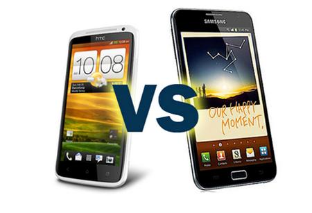 Сравнение GALAXY Note 2 vs HTC One X