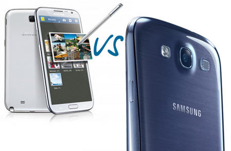 Сравнение GALAXY Note 2 vs Galaxy S3