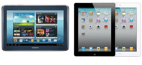 Сравнение iPad 2 и Galaxy tab 2