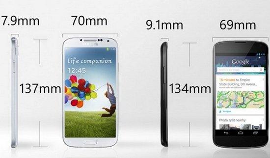 Сравниваем Samsung Galaxy S4 и Google Nexus 4