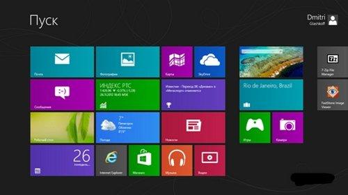 Сочетания клавиш в Windows 8