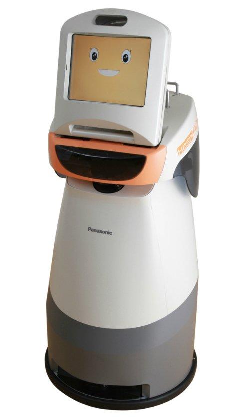 Для больных и пожилых людей Panasonic продемонстрировал трех новых роботов